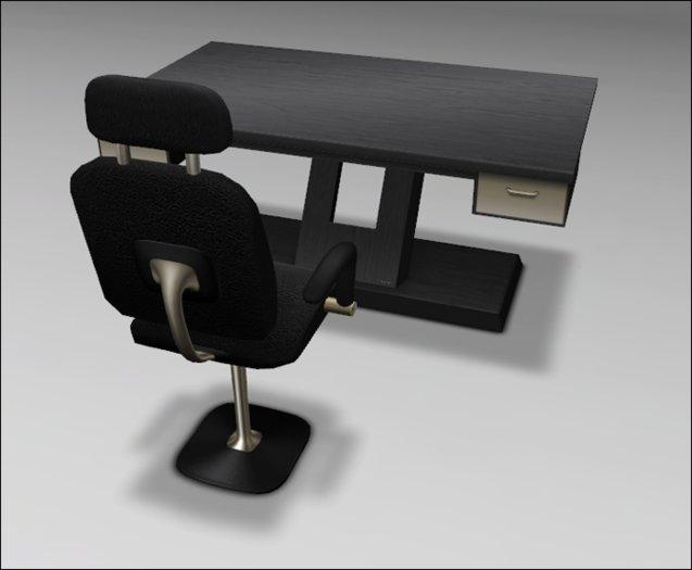 [ kunst ] - Primus Desk II (mod. 1)  / black wood - gold
