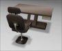 [ kunst ] - Primus Desk II (model #1)  / natural wood - gold