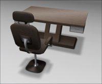 [ kunst ] - Primus Desk II (model #1)  / natural wood - silver