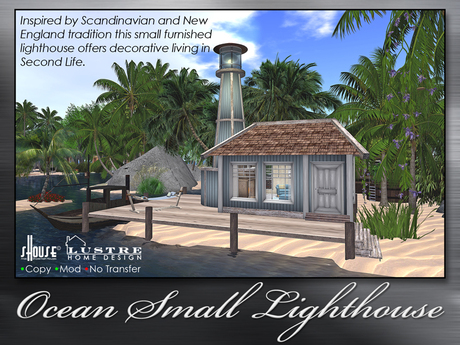 sHouse/Lustre Design Furnished Lighthouse + FREE GIFT! 2 complete room sets - Living Room & Bed Room