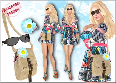Patchwork Dress Outfit