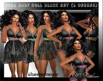 [PMF] Susa Baby Doll black Set