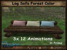 Log Sofa Forest color