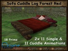 Sofa Cuddle Log Forest red