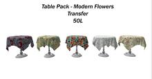 Table Pack Modern flowers