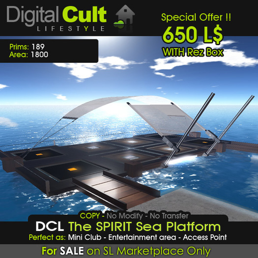 "*** DCL ""The SPIRIT"" Sea Platform - Special Offer!"