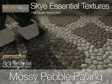 Promo! Mossy Pebble Paving - Skye Essential - 33 Full Perms Textures