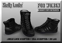 ::: Shelly Laufer Sneakers DD-805 [Black] ::: For Women