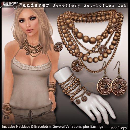*League* Wanderer Jewellery Set -Golden Oak (Boxed)