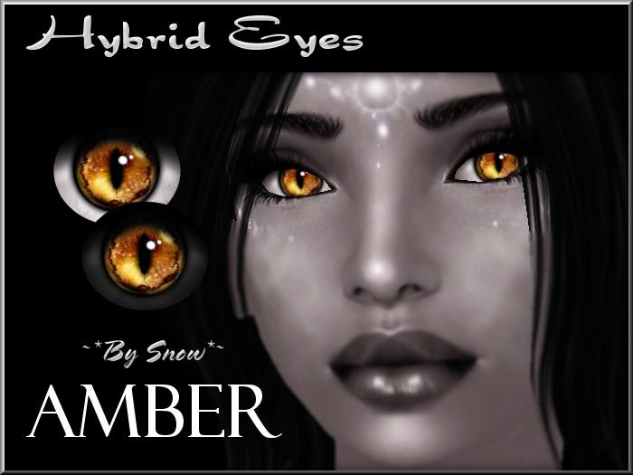 ~*By Snow*~ Hybrid Eyes (Amber)