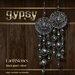 EarthStones Gypsy Earrings - Black Pearl/Silver (GIFT BOX)