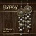 EarthStones Gypsy Earrings - Pearl/Gold (GIFT BOX)