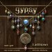 EarthStones Gypsy Necklace - Multi/Gold (GIFT BOX)