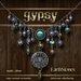EarthStones Gypsy Necklace - Multi/Silver (GIFT BOX)