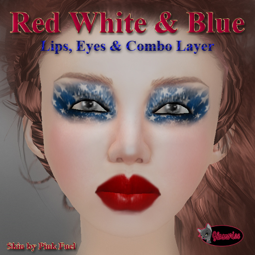 .:Glamorize:. Red, white & Blue Makeup Dollarbie