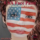 .:Glamorize:. USA Face Paint - 1 Unisex Face Paint Layer 1