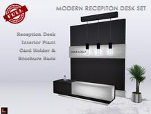 Modern Reception Desk Set POLODIUM  V.3 Full Perm