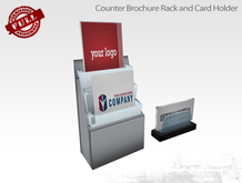 Office Items - Counter Brochure Rack and Card Holder (with landmark and notecard giver) Full Perm