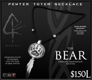 -Pewter Totem Necklace - BEAR - by Khyle Sion at ~Refined Wild~