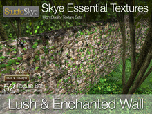 * Lush & Enchanted Wall - Skye Essential - 52 Ancient Stone Wall Textures Full Perms