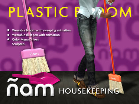 Plastic Broom with Dust Pan ÑAM