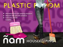 Plastic Broom with Dust Pan ÑAM