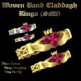 Claddagh Woven Band Rings (SM5)