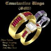 Constantine Wedding Ring Set (SM5)