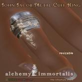 John Jacob Metal Cuff Ring