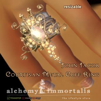 John Jacob Courtisan Metal Cuff Ring