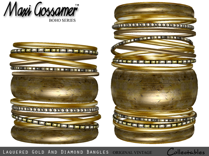 Bangles - Laquered Gold and Diamonds jewellery