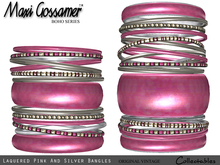 Bangles - Laquered Pink and Silver jewellery