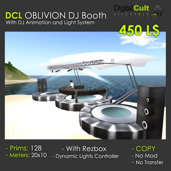 *** DCL OBLIVION Dj Booth - with dance platform