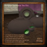 Scripted Japanese Teapot