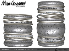 Bangles - Laquered Etched Silver jewellery