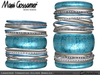 Bangles - Laquered Turquoise and Silver jewellery