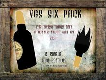 VGS 6-Pack of Ale - Breakable Beer Bottles - Longneck Head-Busters