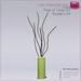 %50SUMMERSALE Full Perm Sculpted Vase of Twigs 03 - Interior Decor Builder's Kit Set