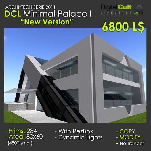 "DCL ""Minimal Palace"" New Version!! perfect as Megastore, Art Gallery, Office"