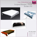 %50WINTERSALE Full Perm Sculpted Bed Throw / Blanket Builder's Kit Set