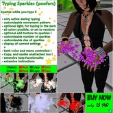 Typing Sparkles (boxed) on discount now
