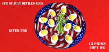 4th of july deviled eggs with giver