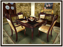 Dinner Party Dining Set for 4: Walnut French