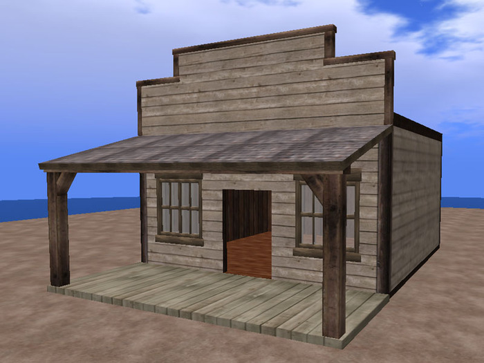 Second Life Marketplace Re Old Western Gray Wood