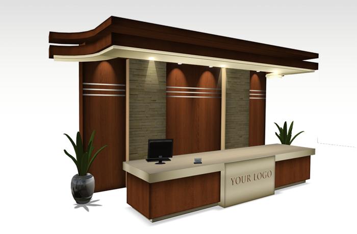 GRAND Reception Desk - Furniture - Lobby Reception desk Copy/Modify