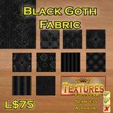USC Textures - Black Goth Fabric
