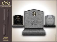 cYo Gravestone   Tombstone,  full perms + Photoshop file