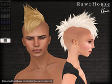 RAW HOUSE :: Khaos Hair [Blacks] w/ razored hairbase