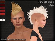 RAW HOUSE :: Khaos Hair [Reds] w/ razored hairbase