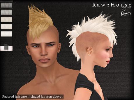 RAW HOUSE :: Khaos Hair [Whites] w/ razored hairbase
